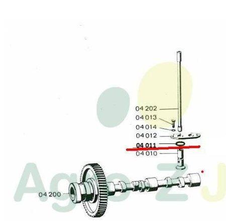 Szelepszár O-gyűrű 25,3x13,5x5