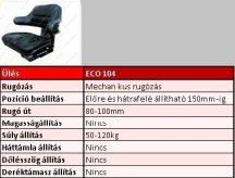 Vezetőülés 485-570mm fix háttámlás